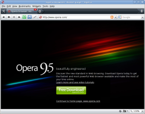 Vistazo de Opera 9.5