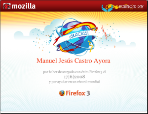 Certificado Download Day 2008